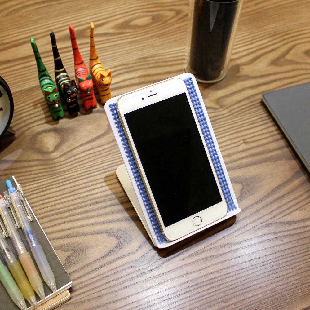 頂堅 [鐵板製]固定式-手機架/平板電腦支架(三色可選)-4入/組