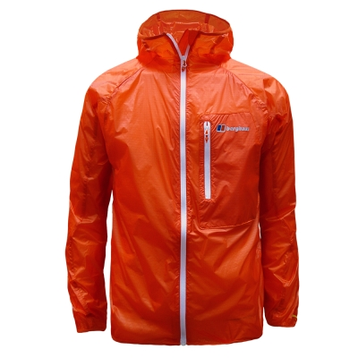 【Berghaus 貝豪斯】男款VAPOUR防潑水外套S02M01-橘
