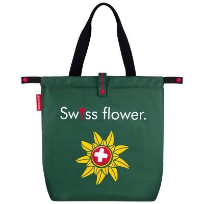 MONDAINE 瑞士國鐵 國花摺疊肩背包-綠