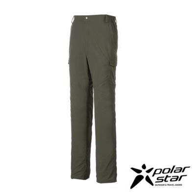 PolarStar 男 抗UV排汗休閒長褲│工作褲『深灰綠』P17315