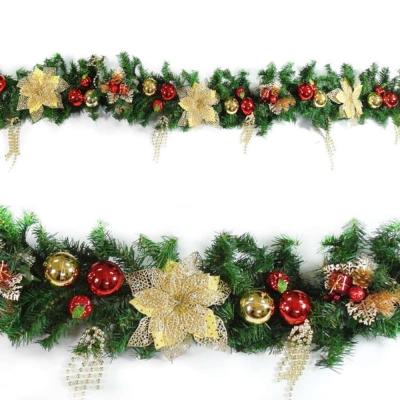 9尺(270cm)聖誕裝飾樹藤條 (紅金色系)