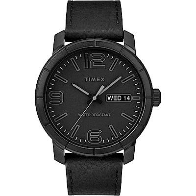 TIMEX 天美時 風格系列 經典潮流大數字手錶 黑/44mm