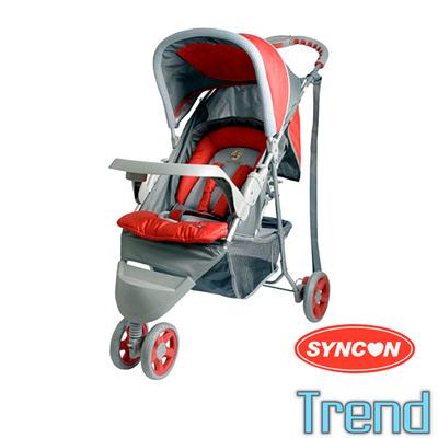 SYNCON Trend 多功能嬰兒三輪手推車 紅