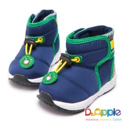 Dr. Apple 機能童鞋 寶寶防水布俏皮短靴-藍