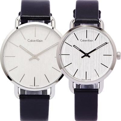 CK 大自然木質感對錶(K7B211C6.K7B231C6) -銀白色面/42.36mm