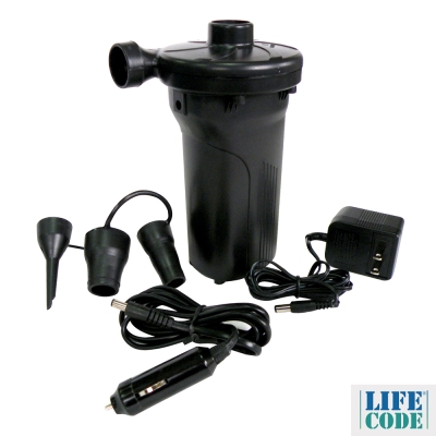 LIFECODE 三合一電動充氣幫浦 (內建蓄電池 家用110V 車用12V)