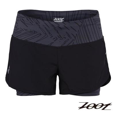 ZOOT 瑜珈式二合一 3 吋輕肌能跑褲(時尚黑)(女) Z 1504008