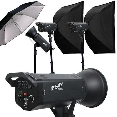 Piyet 大型專業攝影棚三燈組合 ( PK-300G )