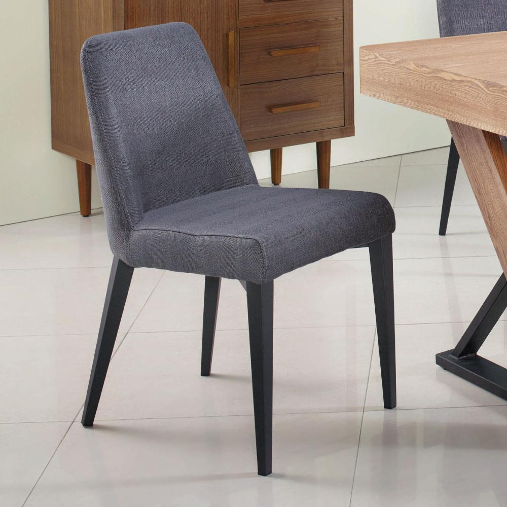 品家居 歐布拉灰色布餐椅