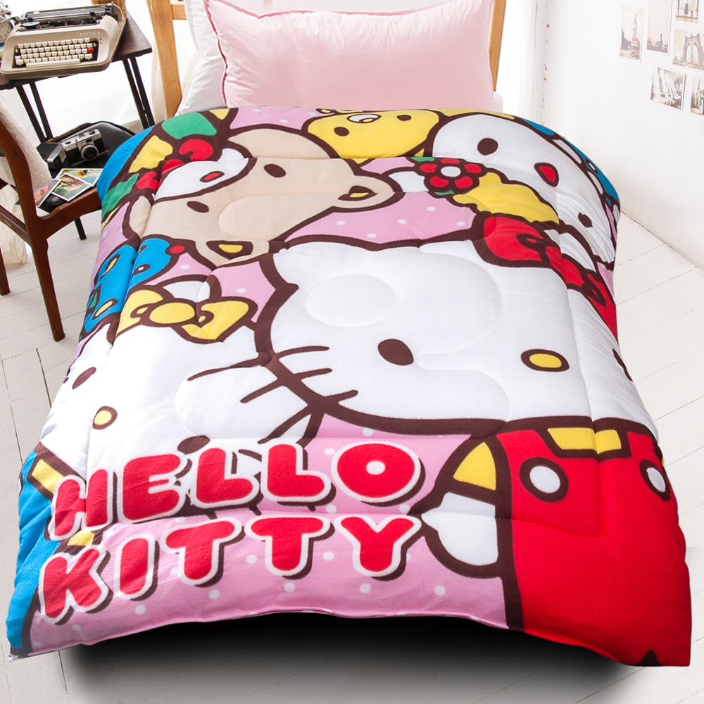 HELLO KITTY歡樂同好會厚毯被