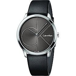 Calvin Klein CK Minimal 經典大LOGO手錶-黑/40mm