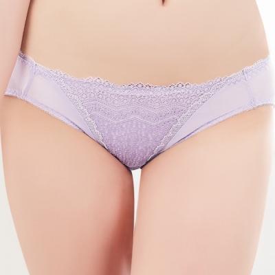 思薇爾 挺享塑系列蕾絲低腰三角褲(花香紫)