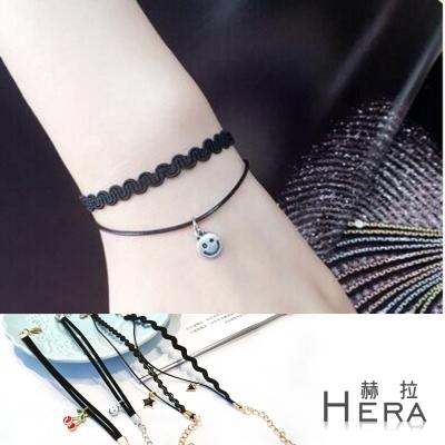Hera 赫拉 原宿黑色雙層造型吊墜手鍊-4款