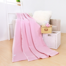 鴻宇HongYew 美國棉 針織毛巾涼被  粉