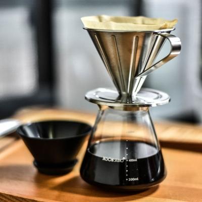 Driver不鏽鋼咖啡濾器+J.S.乾濕兩用密封罐600ml
