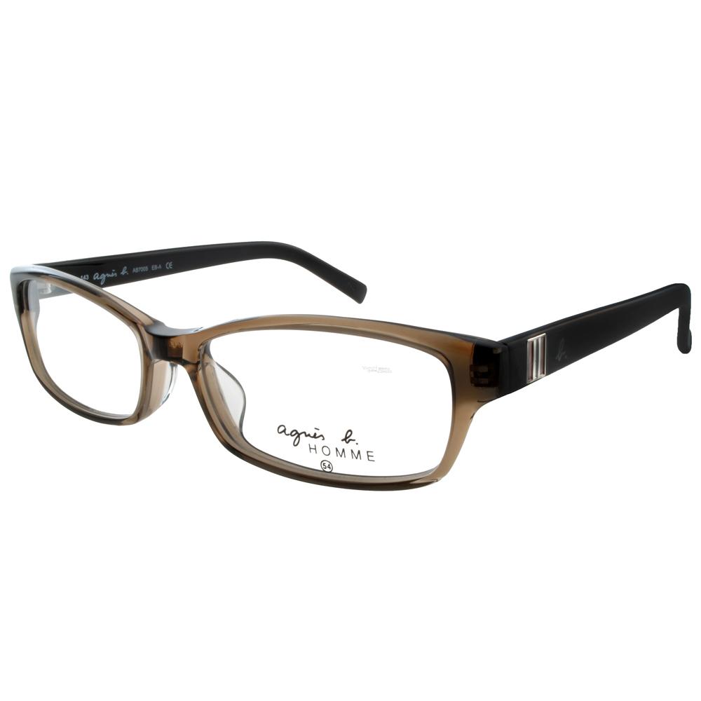 agnes b.眼鏡 亞洲版高鼻墊/咖啡棕色#AB7005 EBA