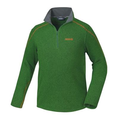 【ATUNAS 歐都納】男款Fleece刷毛長袖保暖POLO衫A-P1523M 綠