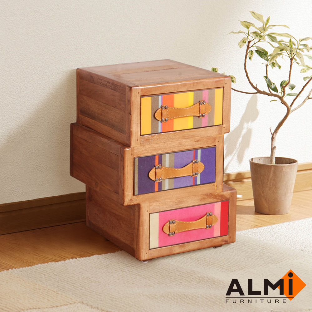 ALMI_ASYMMETRIC 3 DRAWERS 三抽收納櫃W38*D40*H55CM