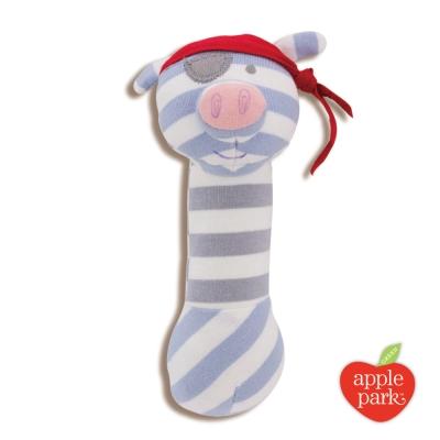 美國 Apple Park 農場好朋友系列 有機棉安撫啾啾棒 - 海盜豬