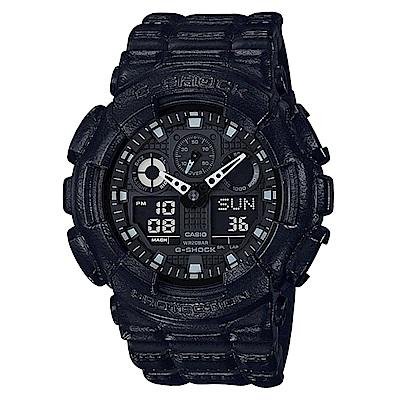 G-SHOCK百搭皮革造型主題街頭時尚休閒錶(GA-100BT-1)51mm