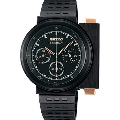 SEIKO X GIUGIARO 限量科幻計時碼錶(SCED043J)-黑/43mm