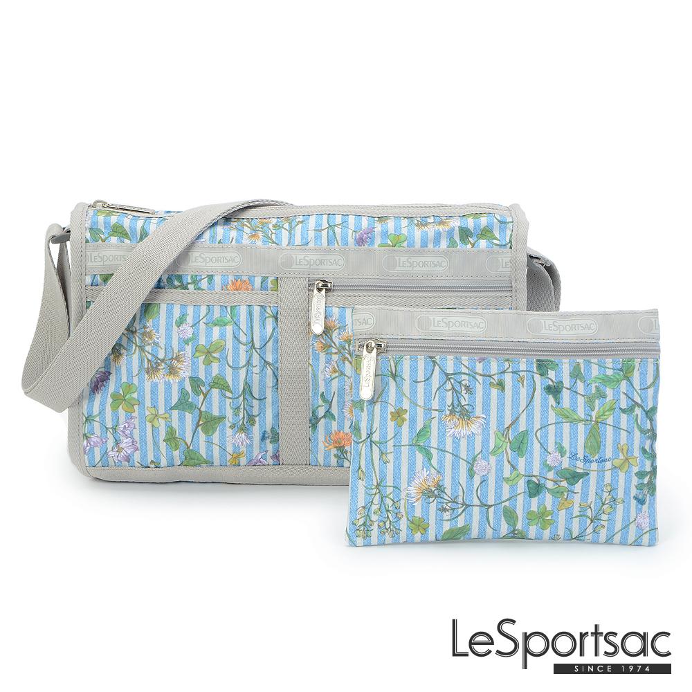 LeSportsac - Standard雙口袋斜背包-附化妝包(春意盎然)