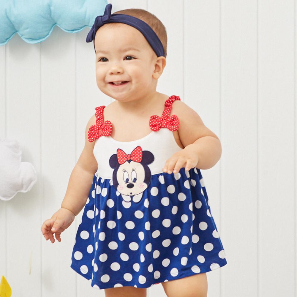 Disney baby米妮系列經典圓點細肩帶包屁衣 (2色可選) product image 1