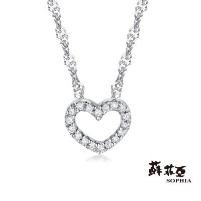 蘇菲亞SOPHIA-鑽石項鍊-滿分愛戀14K鑽鍊
