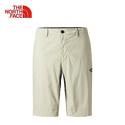 The North Face北面男款灰色舒適透氣運動短褲