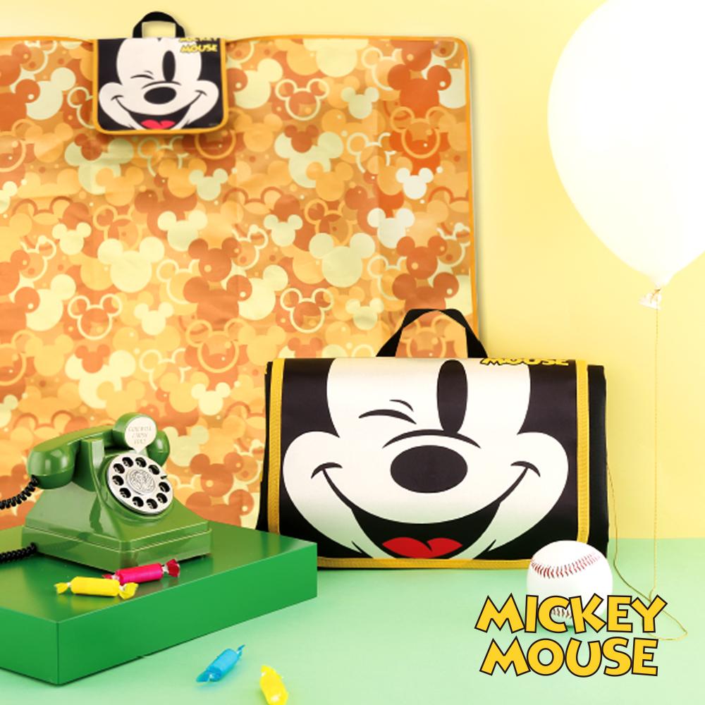 迪士尼Disney HI!MICKEY金色年華多功能休閒野餐墊