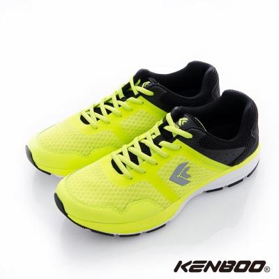 KENBOO(男)-後座力 雙撞色夜螢光運動鞋-黑撞綠