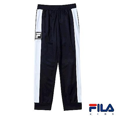 FILA KIDS 男童吸濕排汗長褲-黑 1PNS-4403-BK