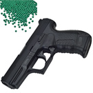 台灣製外銷版 P99強力彈簧加重版6mm手拉空氣BB槍+0.25G高精密研磨 BB彈