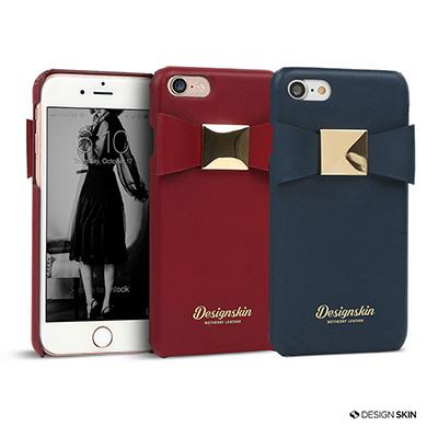 DesignSkin iPhone 7 義式精品真皮緞帶手機保護殼