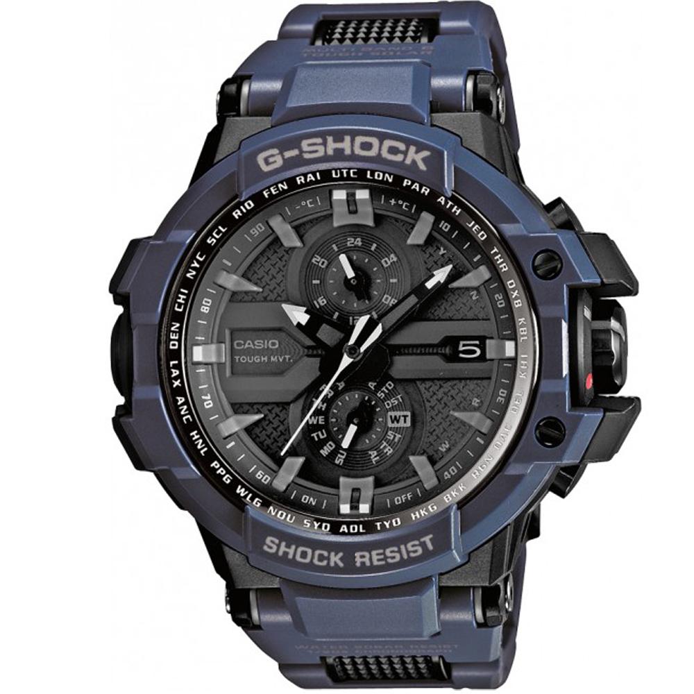G-SHOCK 高規格駕駛飛行強化膠概念電波錶(GW-A1000FC-2A)-藍/51.7mm