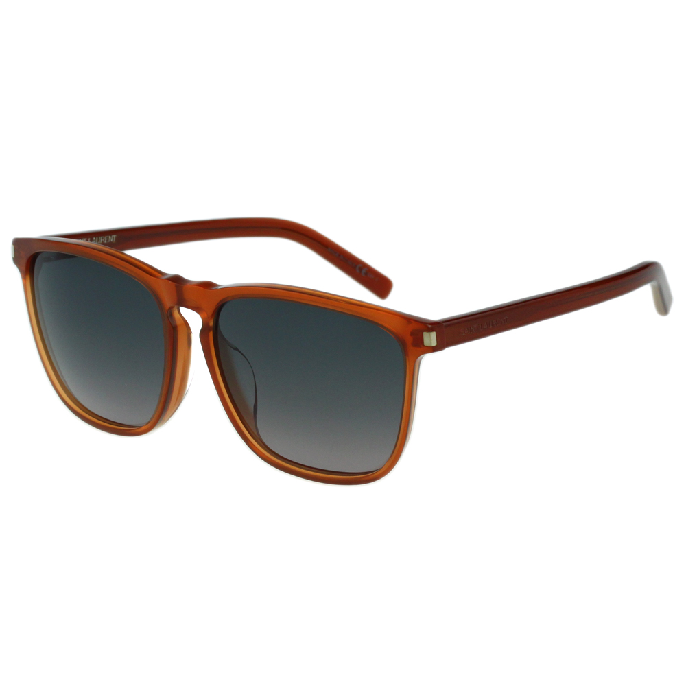 Saint Laurent Paris 時尚太陽眼鏡(橘紅色)