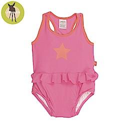 德國Lassig-嬰幼兒抗UV連身式泳裝-粉色甜星