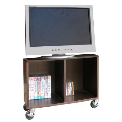 【Dr. DIY】耐重型電視櫃(附四個工業輪)深胡桃木色