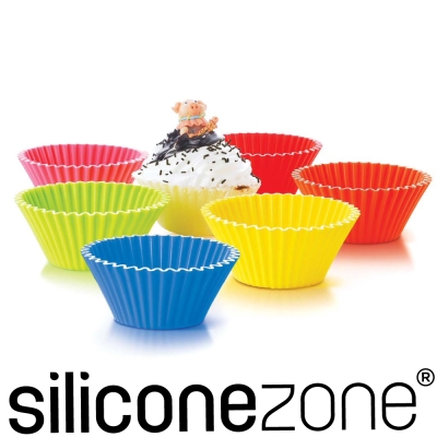 Siliconezone 8.5cm施理康耐熱造型杯子蛋糕模(6入裝)