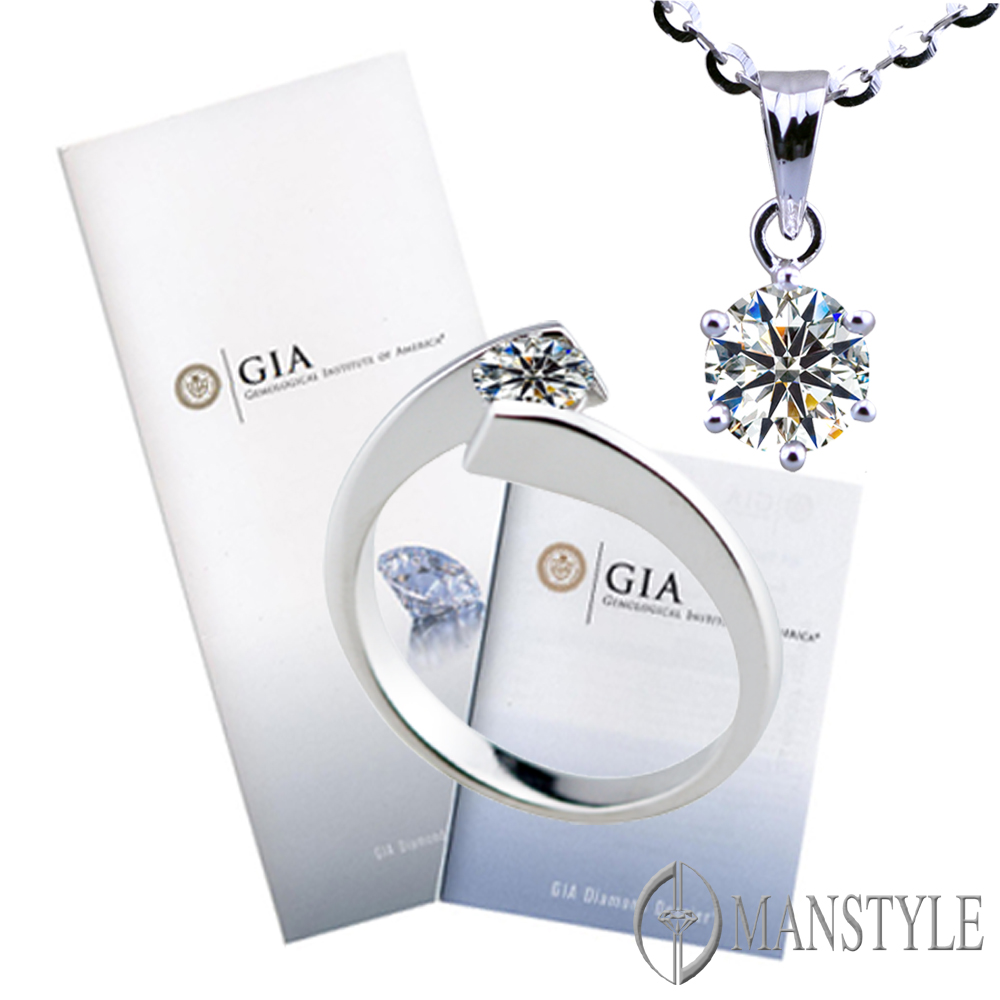 GIA-MANSTYLE 0.40ct D-IF 八心八箭裸鑽