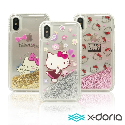 X-doria Hello Kitty iPhone X 保護殼 流光單鑽系列