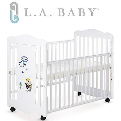 美國 L.A. Baby  奧蘭多嬰兒搖擺大床/原木床/童床(白色)