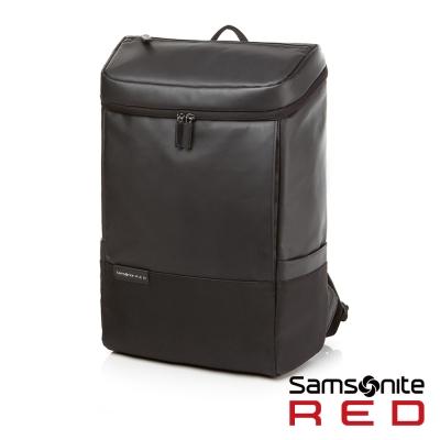Samsonite RED PECKHAM長型上開式中性筆電後背包-14吋(黑)