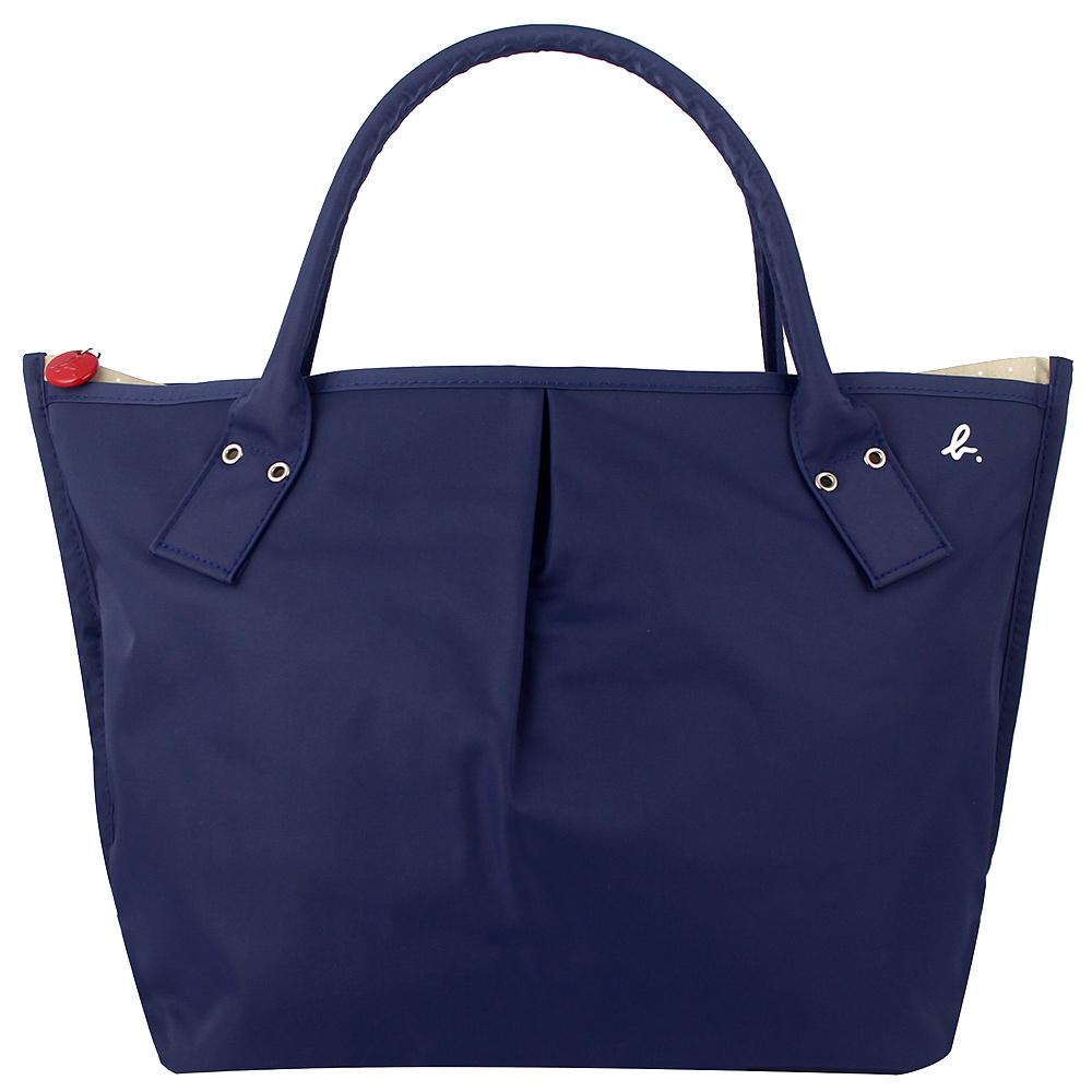 agnes b.藍色ab愛心拉鍊灰色內裡水餃包大日本製