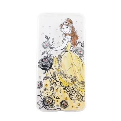 Disney迪士尼iPhone 6/6S Plus(5.5)施華洛世奇水鑽透明雙...