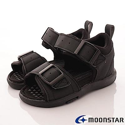 日本月星頂級童鞋-後穩定機能涼鞋-TO1806黑(中小童段)