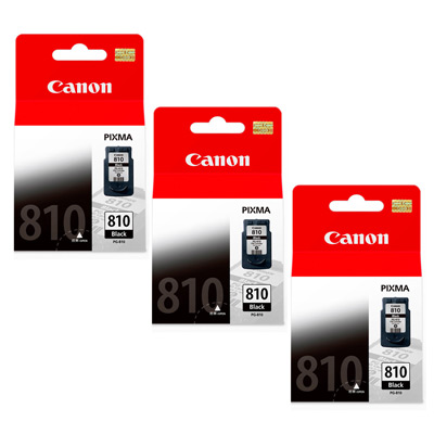 CANON PG-810BK 原廠黑色墨水匣組合(3顆入)