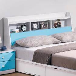 H&D 童話系列粉藍雙色5尺床頭箱