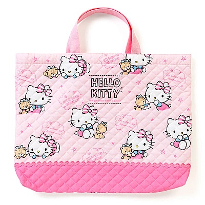 Sanrio HELLO KITTY日本製布面提袋/補習提袋(小熊秘語)