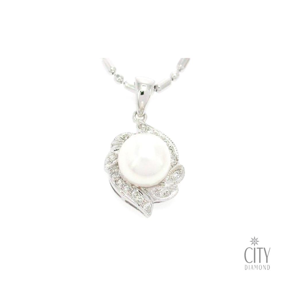 City Diamond『櫻雪之戀』珍珠鑽墜